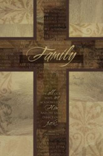 Family Inspirational Cross by CT Art