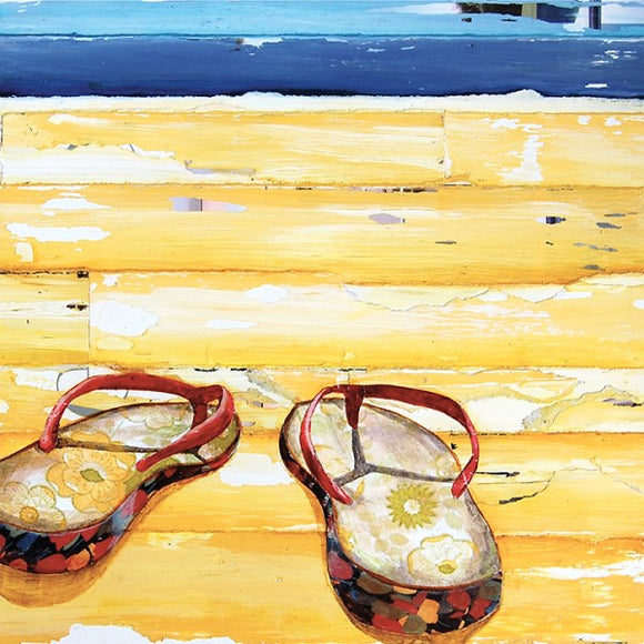 Lost at Sea (The Good Way) Flip Flops Sandals by Danny Phillips