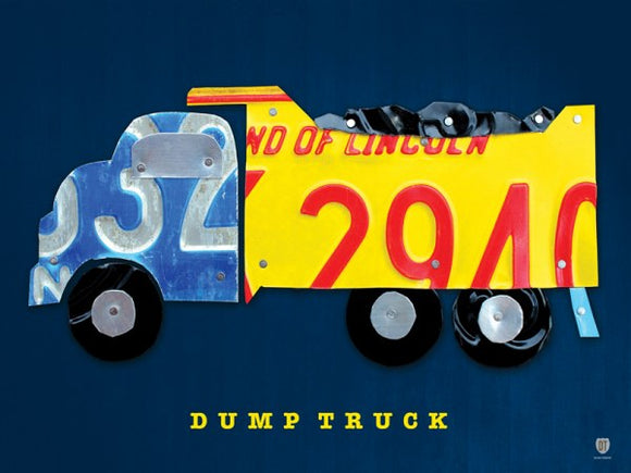 Dump Truck License Plate Collage by Design Turnpike