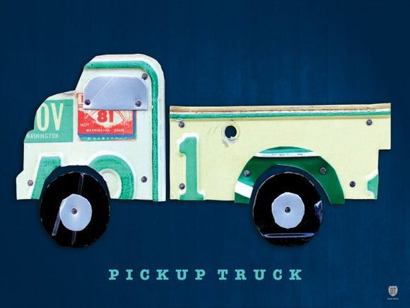 Pickup Truck License Plate Collage by Design Turnpike