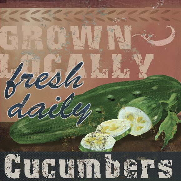 Farm Fresh IV Grpwn Locally Cucumbers by Fiona Stokes-Gilbert