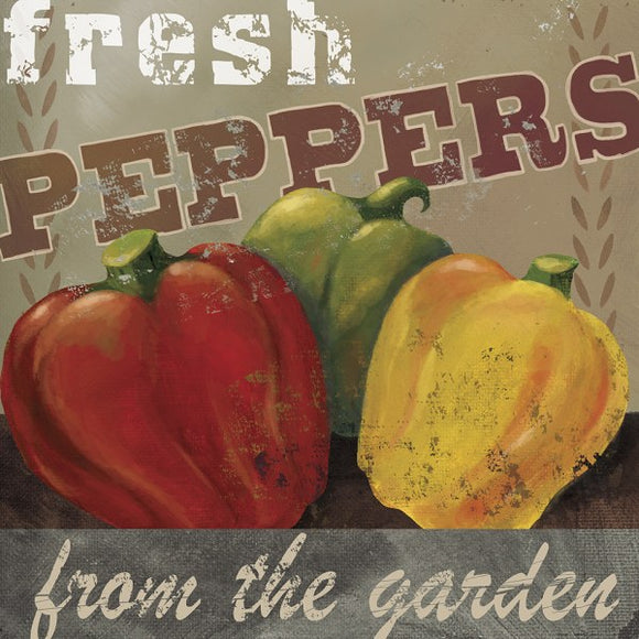 Farm Fresh V Fresh Peppers by Fiona Stokes-Gilbert