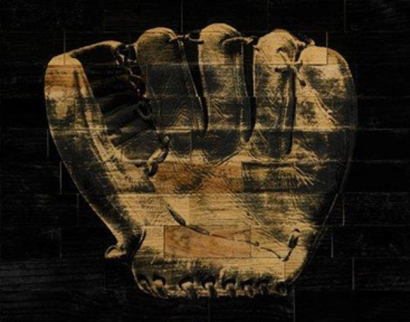 Baseball Glove Sepia by Paperplate Inc.