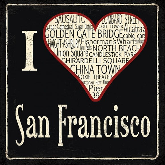 I Heart San Francisco by Jo Moulton