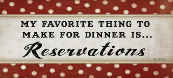 Dinner Reservations by Jennifer Pugh