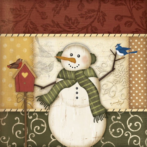 Country Snowman III by Jennifer Pugh