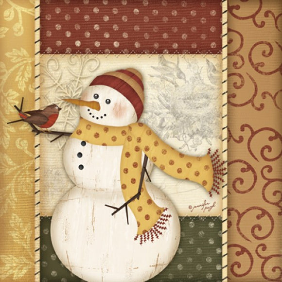 Country Snowman IV by Jennifer Pugh