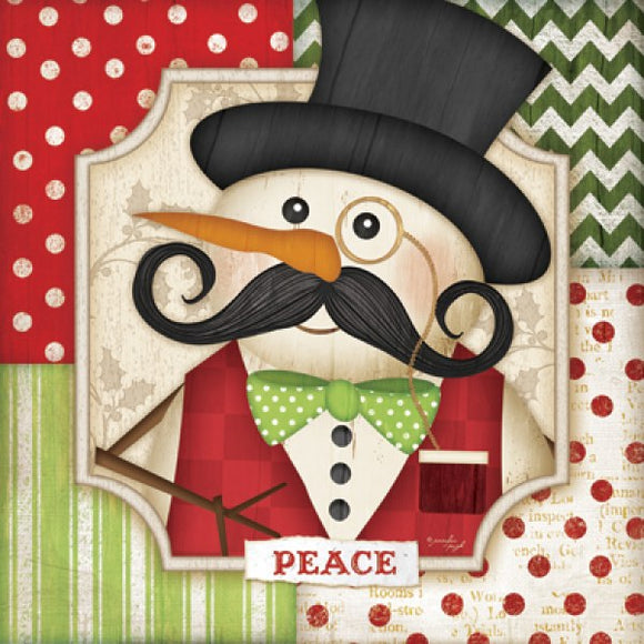Peace - Snowman by Jennifer Pugh