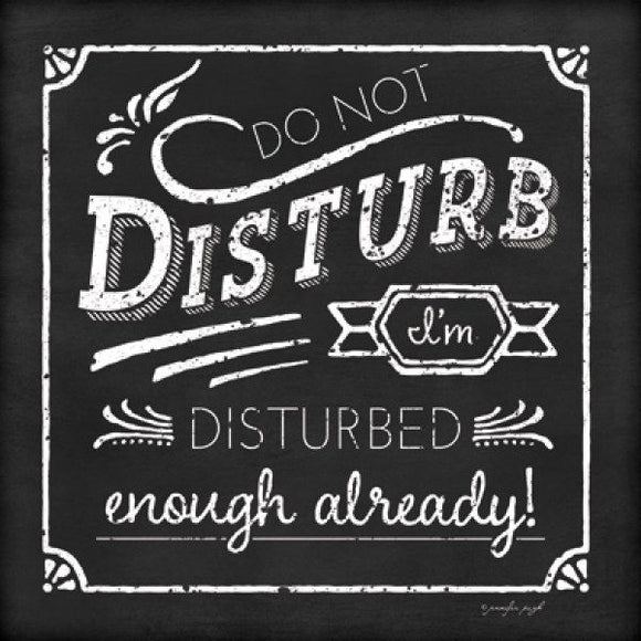 Do Not Disturb I'm disturbed enough already by Jennifer Pugh