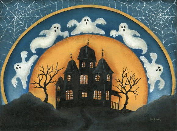Haunted House - Halloween by Kim Lewis