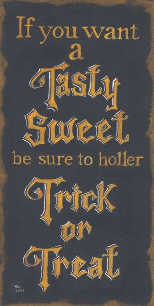 Tasty Sweet Trick or Treat - Halloween by Kim Lewis
