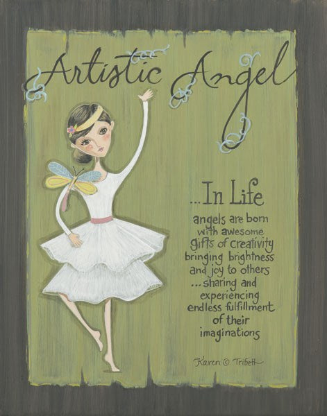 Artistic Angel by Karen Tribett