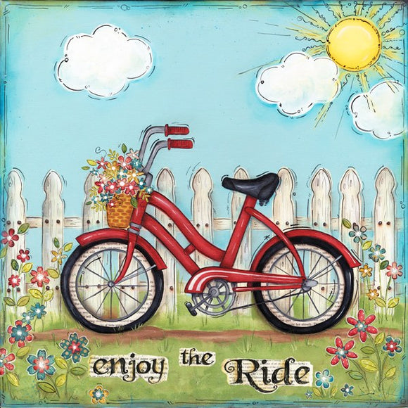 Enjoy The Ride Bicycle by Lisa Keys