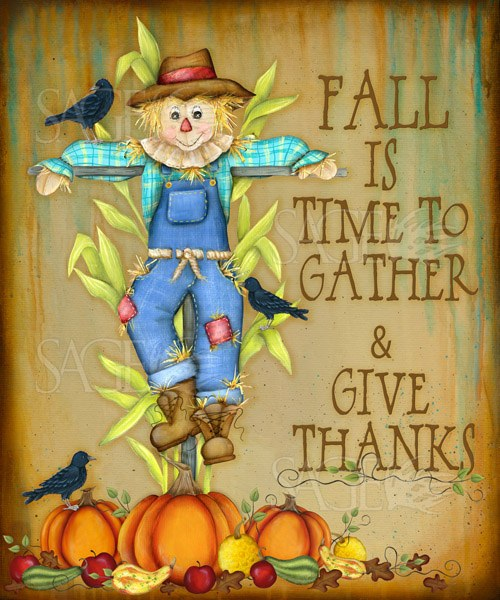 Fall Is A Time To Gather and Give Thanks by Lisa Keys