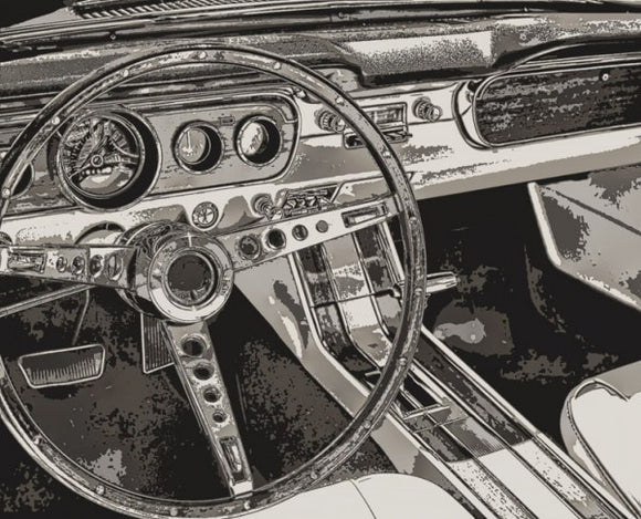 Vintage Car Dashboard by Mindy Somners