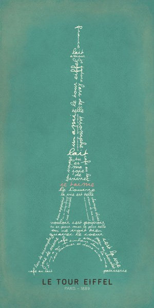 Eiffel Tower Aqua by Stephanie Marrott