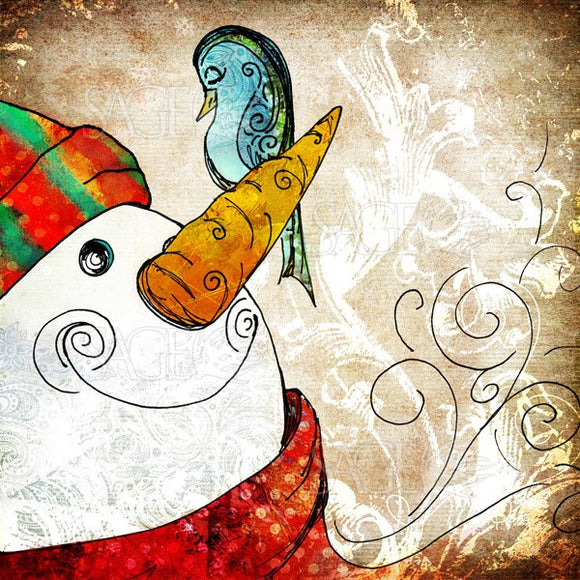 Christmas Snowman by Sally Barlow