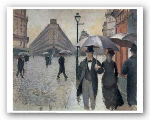 Paris, A Rainy Day, 1877 by Gustave Caillebotte