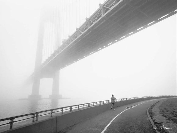Verrazano Bridge New York City Jogger by Henri Silberman