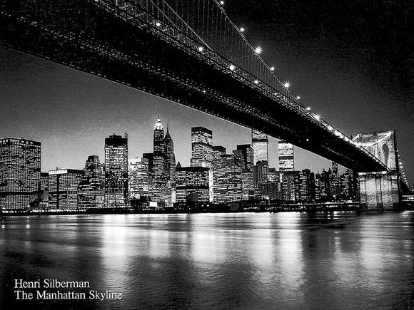 Manhattan Skyline New York by Henri Silberman