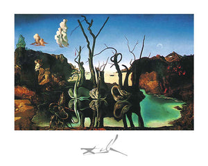 Cygnes reflechis Swans Reflecting Elephants by Salvador Dali