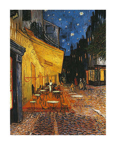 "Terrasse de Cafe la Nuit Cafe Terrace at Night 16""x20"" by Vincent van Gogh"