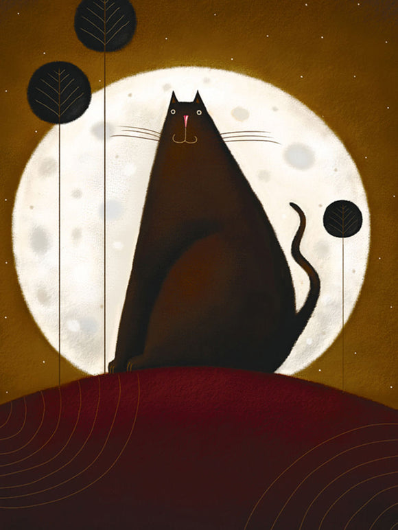 Cat and the Moon I by Jo Parry