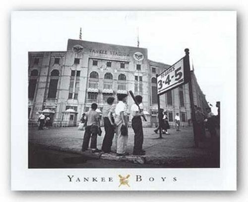Yankee Boys, Yankee Stadium, Bronx, New York by Corbis Archive