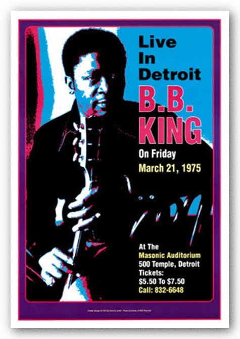 B.B. King, Masonic Auditorium, Detroit, 1974 by Dennis Loren