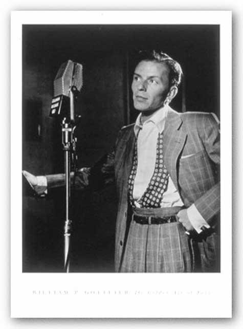 Frank Sinatra (with microphone) by William Gottlieb