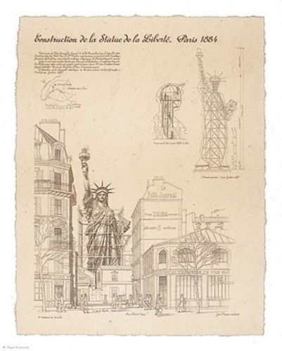 Statue of Liberty Paris 22x28 by Yves Poinsot