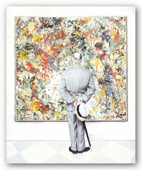 The Connoisseur by Norman Rockwell