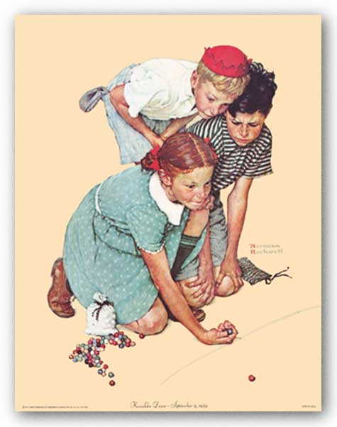 Knuckles Down by Norman Rockwell