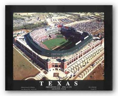 Arlington, Texas - The Ballpark - Texas Rangers - First Opening Day by Mike Smith - Aerial Views
