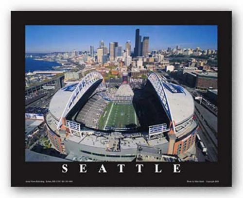Seattle, Washington - Qwest Field - Seattle Seahawks by Mike Smith - Aerial Views