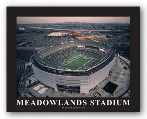 New York Jets at New Meadowland Stadium, Inaugural Season by Mike Smith - Aerial Views