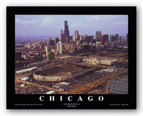 Chicago, Illinois - Soldier Field 1924-2002 by Mike Smith - Aerial Views