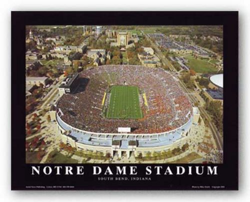 Notre Dame Stadium - South Bend, Indiana by Mike Smith - Aerial Views