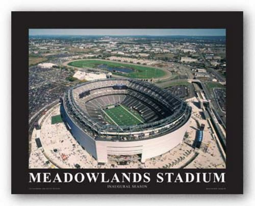 NY Giants at New Meadowlands Staium, Inaugural Season by Mike Smith - Aerial Views