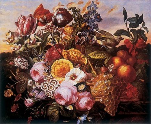 Still Life with Flowers by Joseph Goblet