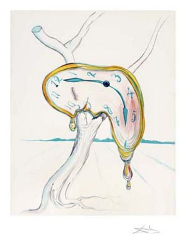 Tearful Soft Watch - Limited Edition Giclee by Salvador Dali
