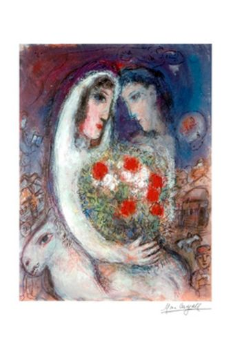 Marriage - Giclee interpretation by Marc Chagall