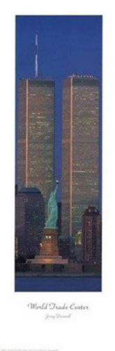 New York WTC and Statue of Liberty Vertcal by Jerry Driendl