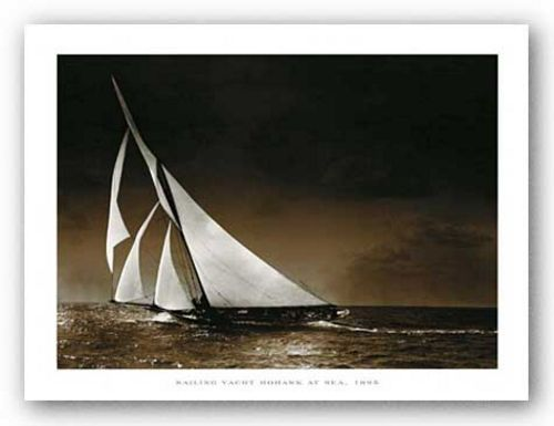 Sailing Yacht Mohawk at Sea, 1895 by Photography Collection