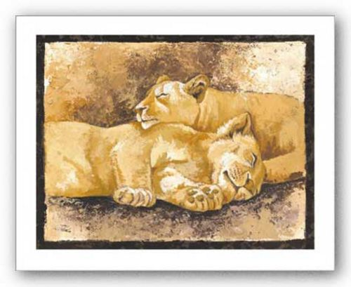 Sleeping Lions by Philippe Genevrey