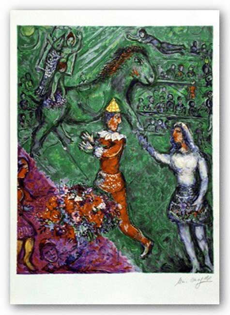 The Cirque Vert by Marc Chagall