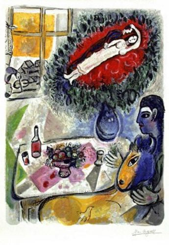 Reverie - Limited Edition Lithograph by Marc Chagall