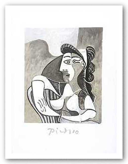 Woman On Armchair by Pablo Picasso