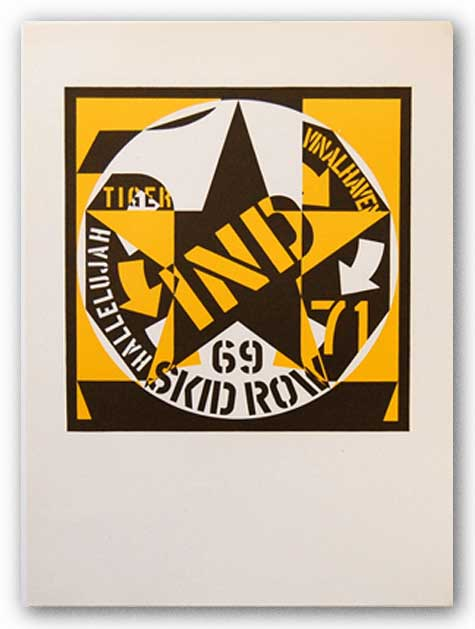 Self Portrait 69 Skid Row by Robert Indiana