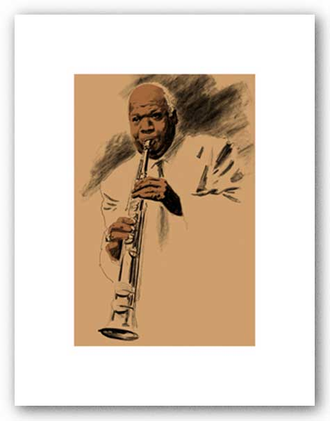 Sidney Bechet - Signed Giclee by Clifford Faust